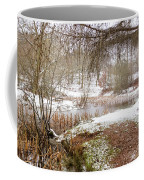 Small Lake In The Snow Coffee Mug