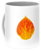 Small Red And Yellow Aspen Leaf 1 - Print Version Coffee Mug