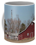 Small Red Barn With Windmill Coffee Mug
