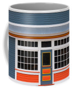 Small Store Front Entrance Colorful Wooden House Coffee Mug