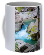 Small Virgin River Waterfall In Zion Canyon Narrows In Zion Np-ut Coffee Mug