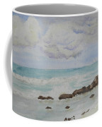 Small Waves Breaking Near Rocks Coffee Mug