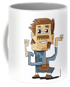 Smart Guy Doodle Character Coffee Mug by Frank Ramspott