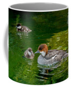 Smew With Ducklings Coffee Mug