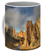 Smith Rock Foggy Morning Coffee Mug