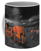 Smoke Break In The Ruins Black And White Coffee Mug