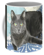 Smokey On A Blue Blanket Coffee Mug