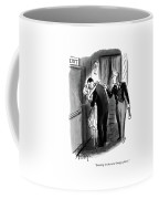 Smoking In The Outer Lounge Coffee Mug by Barney Tobey
