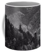Smoky Mountain View Black And White Coffee Mug