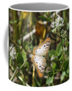 Snack For A White Peacock Butterfly Coffee Mug