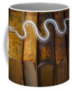 Snake And Antique Books Coffee Mug