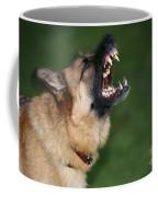Snarling German Shepherd Dog Coffee Mug