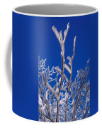 Snow And Ice Coated Branches Coffee Mug