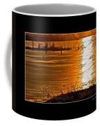 Snow And Ice Sunset Coffee Mug