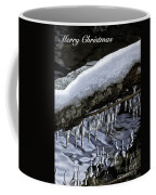 Snow And Icicles Merry Christmas Card Coffee Mug