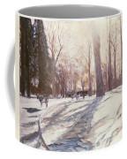 Snow At Broadlands Coffee Mug