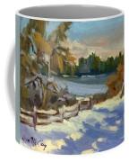 Snow At Martha Lake Coffee Mug