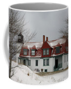 Snow At Point Betsie Coffee Mug