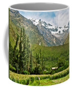 Snow-capped Andes Mountains With Snowline Above 17000 Feet-peru Coffee Mug