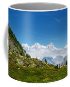 Snow-capped Mountain And Cloud Coffee Mug