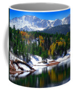 Snow Capped Pikes Peak At Crystal  Coffee Mug