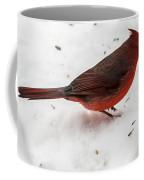 Snow Cardinal Coffee Mug