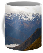 Snow Clouds In The Andes Coffee Mug