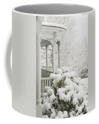 Snow Covered Porch Coffee Mug