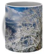 Snow Covered Tree And Winter Scene Coffee Mug