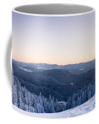 Snow Covered Trees On A Hill, Belchen Coffee Mug