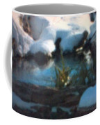 Snow Covered Waterscape Coffee Mug