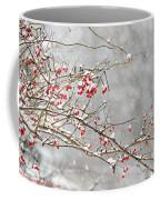 Snow Covered Winter Berries Coffee Mug