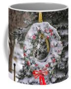 Snow Covered Wreath Coffee Mug