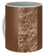 Snow Covers A Tree Branch In Winter Coffee Mug