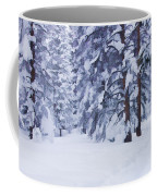 Snow-dappled Woods Coffee Mug