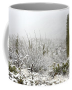 Snow Day In The Desert  Coffee Mug by Saija  Lehtonen
