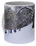 Snow Day In The Park Coffee Mug