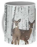 Snow Deer Coffee Mug