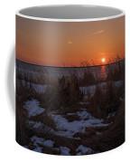 Snow Dune Sunset Seaside Park Nj Coffee Mug