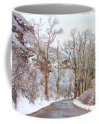 Snow Dusted Colorado Scenic Drive Coffee Mug