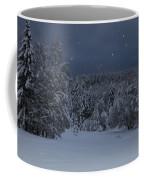 Snow Falling In A Forest Coffee Mug