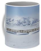Snow Fence Sculpted Snow Coffee Mug