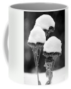Snow Flowers Bw Coffee Mug