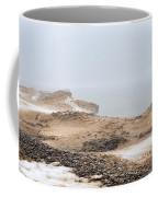 Snow Fog At Whitefish Point Coffee Mug