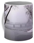 Snow From Lewis Island Bridge Coffee Mug