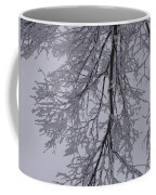 Snow Frosted Branches Coffee Mug