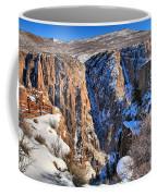 Snow In The Black Canyon Coffee Mug