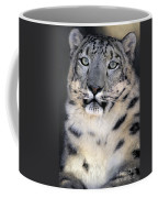 Snow Leopard Portrait Endangered Species Wildlife Rescue Coffee Mug