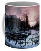 Snow On Canals. Amsterdam, Holland Coffee Mug
