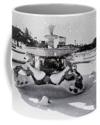 Snow On The Fountain Coffee Mug